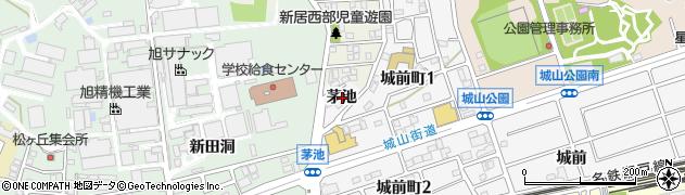 愛知県尾張旭市城前町(茅池)周辺の地図