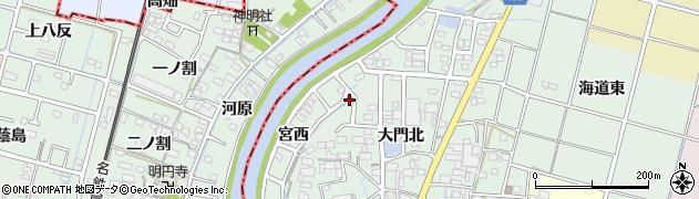 愛知県稲沢市平和町西光坊周辺の地図