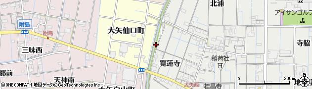 愛知県稲沢市大矢町(池田)周辺の地図