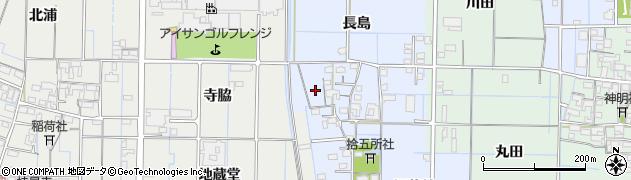 愛知県稲沢市七ツ寺町(屋敷)周辺の地図