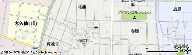愛知県稲沢市大矢町周辺の地図