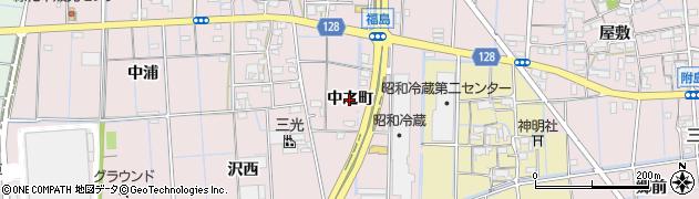愛知県稲沢市福島町(中之町)周辺の地図