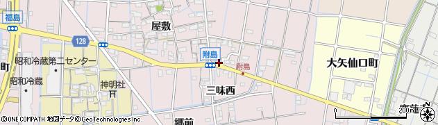 愛知県稲沢市附島町(正明寺)周辺の地図