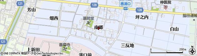 愛知県稲沢市西溝口町(南郷)周辺の地図