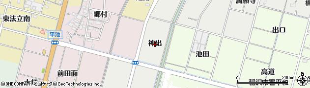 愛知県稲沢市平和町上三宅(神出)周辺の地図