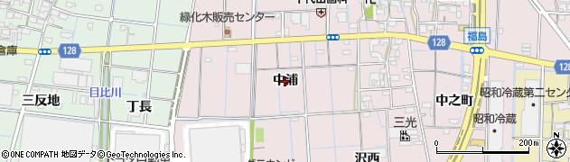 愛知県稲沢市福島町(中浦)周辺の地図