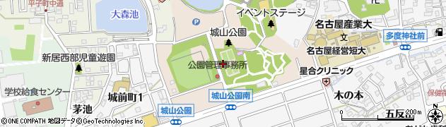 愛知県尾張旭市城山町(長池下)周辺の地図