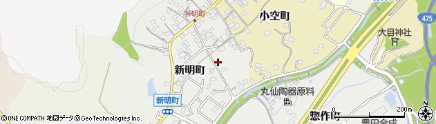愛知県瀬戸市新明町周辺の地図
