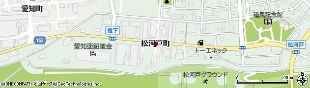 愛知県春日井市松河戸町周辺の地図