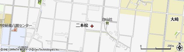 愛知県愛西市鵜多須町(二本松)周辺の地図