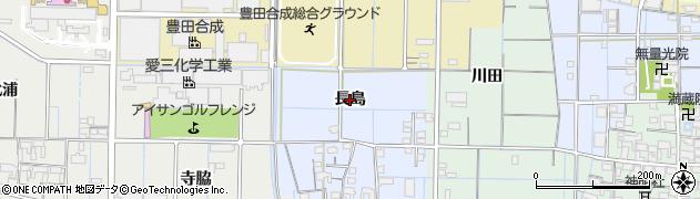 愛知県稲沢市七ツ寺町(長島)周辺の地図