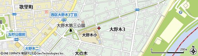 愛知県名古屋市西区大野木周辺の地図