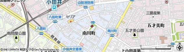 愛知県名古屋市西区南川町周辺の地図