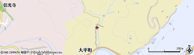 愛知県豊田市大平町(万作)周辺の地図