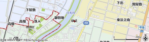 愛知県稲沢市平和町西光坊(杁上)周辺の地図