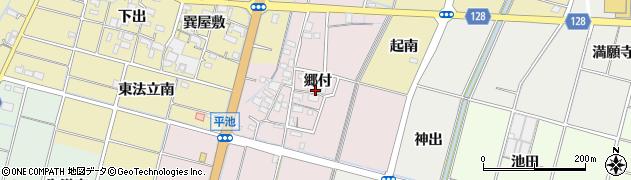 愛知県稲沢市平和町平池周辺の地図