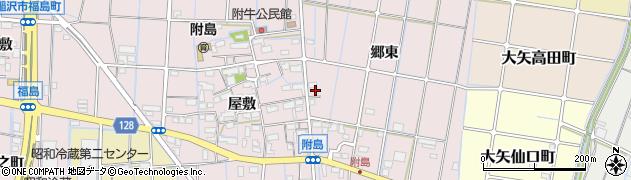 愛知県稲沢市附島町(甚兵衛東)周辺の地図