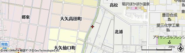 愛知県稲沢市大矢町(下流)周辺の地図