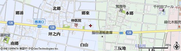 愛知県稲沢市西溝口町(郷東)周辺の地図
