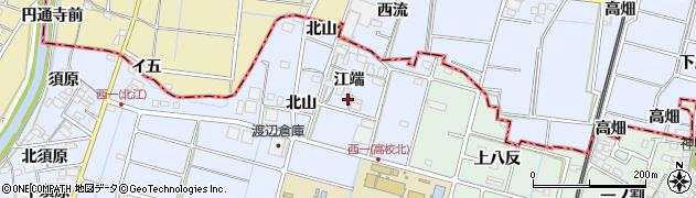 愛知県愛西市西川端町(江端)周辺の地図