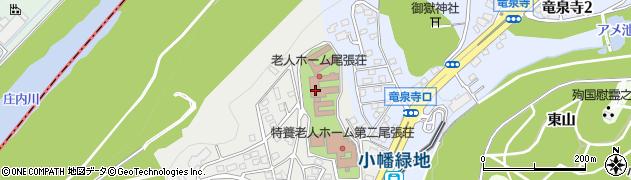 尾張荘周辺の地図