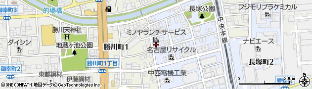 ビオマルシェの宅配名古屋地区周辺の地図