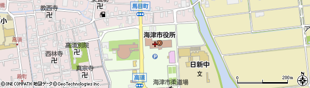 岐阜県海津市周辺の地図
