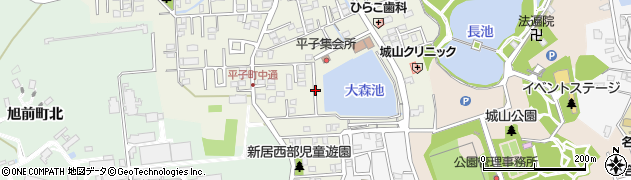 愛知県尾張旭市平子町(中通)周辺の地図