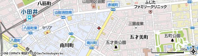 アオキーズピザ小田井店周辺の地図