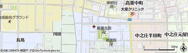 愛知県稲沢市中之庄高畑町周辺の地図