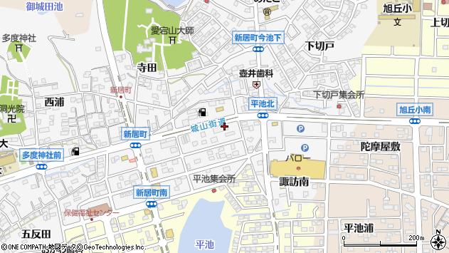 〒488-0073 愛知県尾張旭市新居町上の田の地図