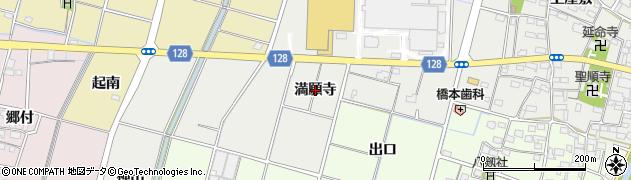 愛知県稲沢市平和町上三宅(満願寺)周辺の地図