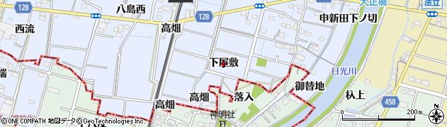 愛知県稲沢市祖父江町三丸渕(下屋敷)周辺の地図