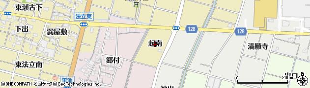 愛知県稲沢市平和町法立(起南)周辺の地図