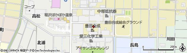 愛知県稲沢市北島町(西之町)周辺の地図