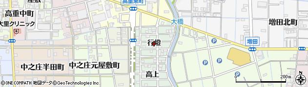 愛知県稲沢市中之庄町(行燈)周辺の地図