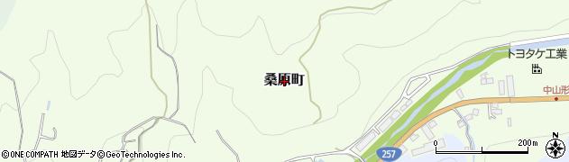 愛知県豊田市桑原町周辺の地図
