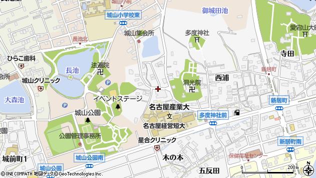 〒488-0076 愛知県尾張旭市新居町山の田の地図