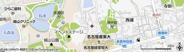 愛知県尾張旭市新居町(山の田)周辺の地図