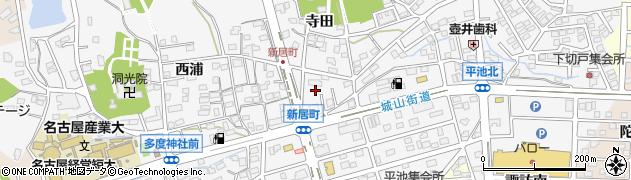 愛知県尾張旭市新居町周辺の地図