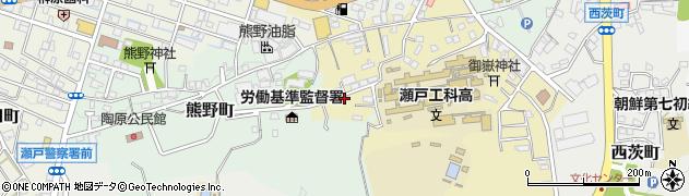愛知県瀬戸市西権現町周辺の地図