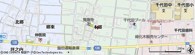 愛知県稲沢市野崎町(本郷)周辺の地図