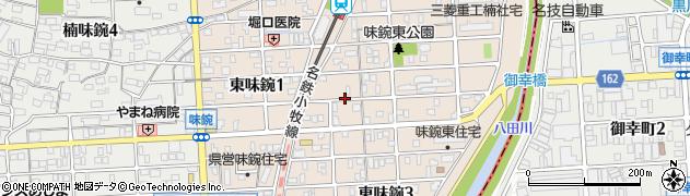 愛知県名古屋市北区東味鋺周辺の地図