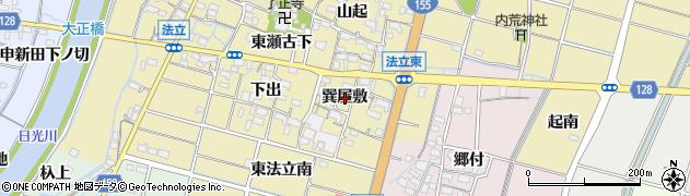 愛知県稲沢市平和町法立(巽屋敷)周辺の地図