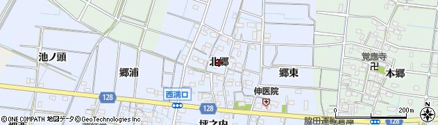 愛知県稲沢市西溝口町(北郷)周辺の地図