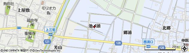 愛知県稲沢市西溝口町(池ノ頭)周辺の地図