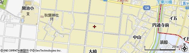 愛知県愛西市下東川町周辺の地図