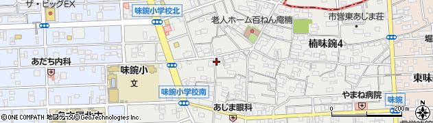 愛知県名古屋市北区楠味鋺3丁目周辺の地図