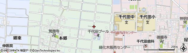 愛知県稲沢市野崎町(手ケ島)周辺の地図