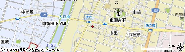 愛知県稲沢市平和町法立(西瀬古下)周辺の地図